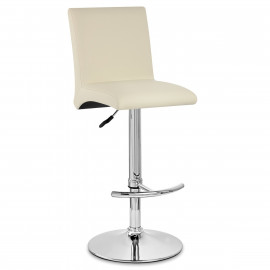Kunstleder Barhocker Chrom - Deluxe High Back