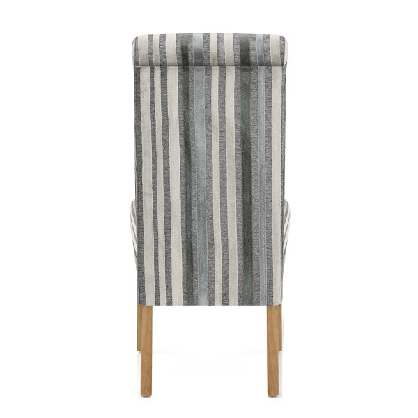 Roma Dining Chair Blue / Grey Stripes